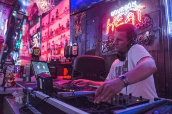 DJ at Bourbon Heat in New Orleans